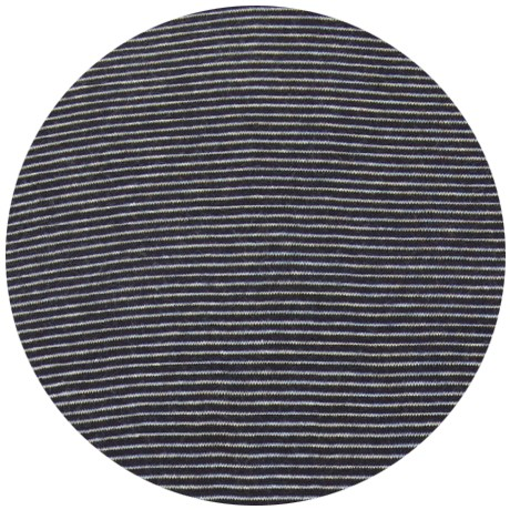White / Navy Pin Stripe